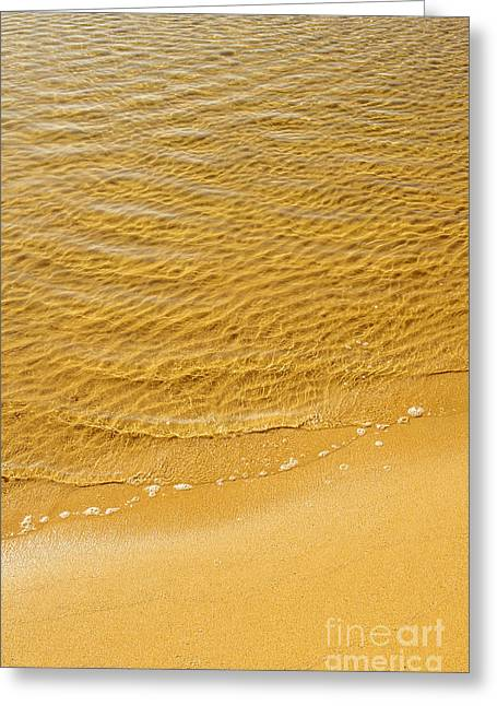 Copyspace Greeting Cards - Sea Shore Greeting Card by Carlos Caetano
