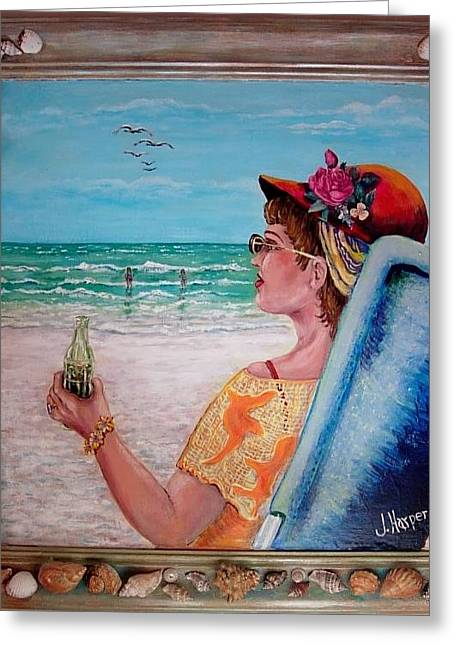 Lawn Chair Greeting Cards - Sea Side Greeting Card by JoAnn Harper