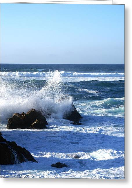 Monterey Ocean Scene Greeting Cards - Sea Spray Greeting Card by Barbara Snyder