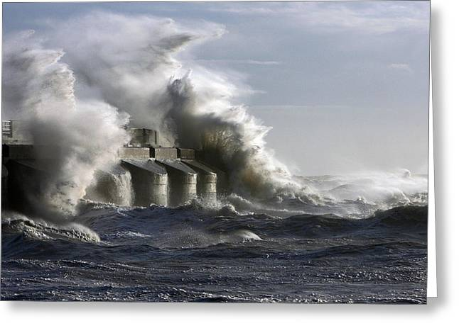 """storm Prints"" Greeting Cards - Sea Spray Greeting Card by Barry Goble"
