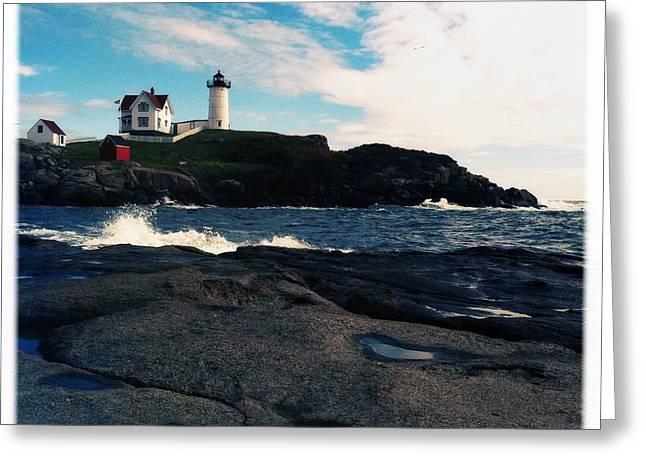 Cape Neddick Greeting Cards - Sea Spray Greeting Card by Patricia Laws