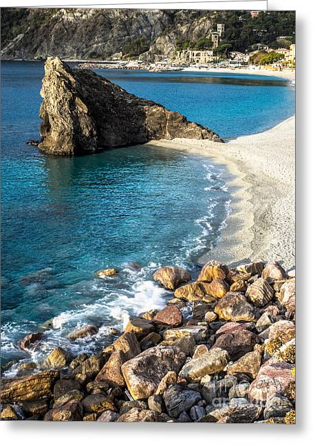 Monterosso Greeting Cards - Sea Stack of Monterosso Greeting Card by Prints of Italy