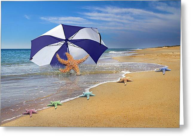 Sea Star Celebration  Greeting Card by Betsy Knapp