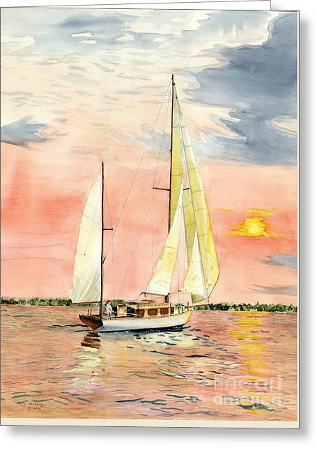 Boats On Water Greeting Cards - Sea Star Greeting Card by Melly Terpening