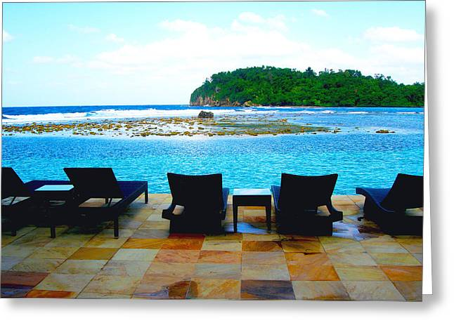 Venezuela Greeting Cards - Sea Star Villa Greeting Card by Carey Chen