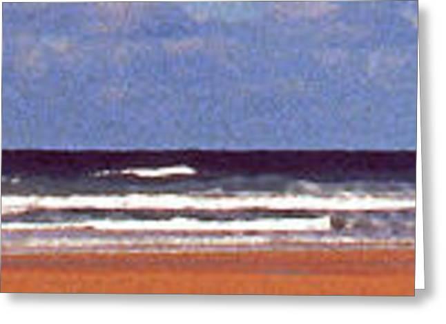 Kite Surfing Greeting Cards - Sea surf Greeting Card by Paul Adamson