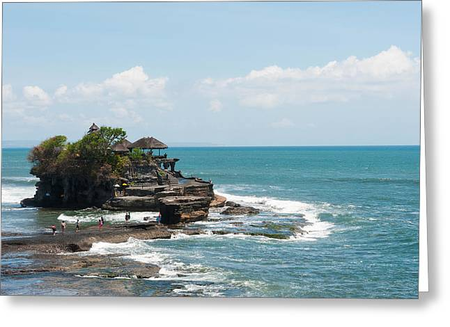 Tranquil Place Greeting Cards - Sea Temple, Tanah Lot Temple, Tanah Greeting Card by Panoramic Images