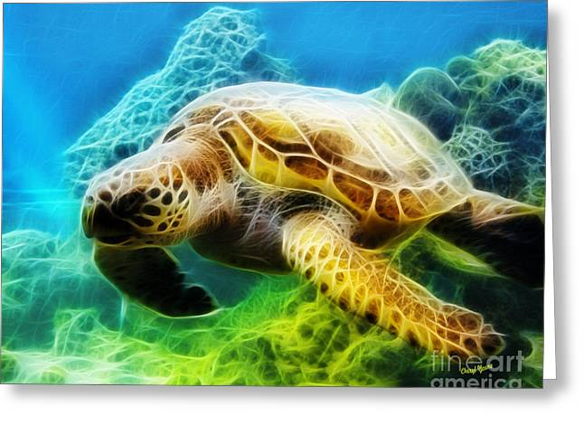 Sea Turtle 1 Greeting Card by Cheryl Young