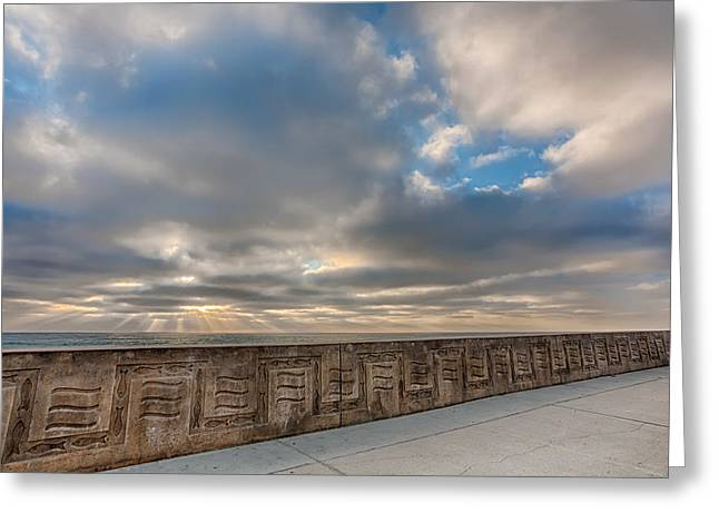 Sea Wall Greeting Cards - Sea Wall Greeting Card by Peter Tellone