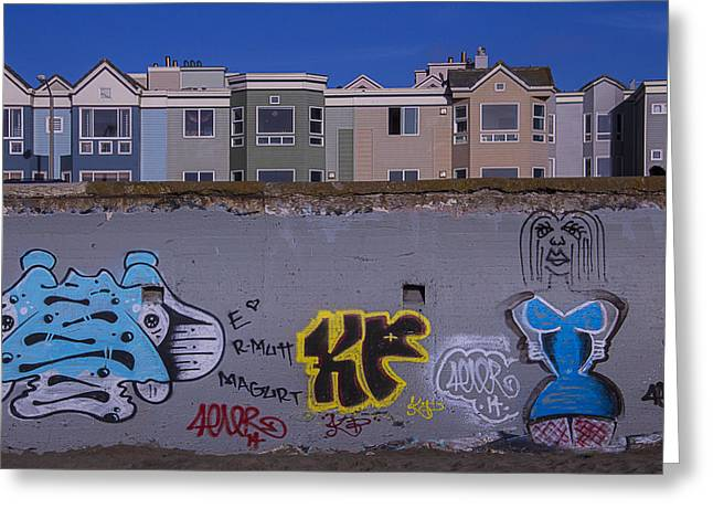 Sea Wall Greeting Cards - Sea Wall San Francisco Greeting Card by Garry Gay