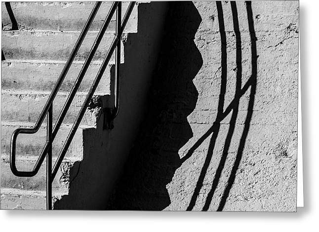 Sea Wall Shadow Greeting Card by Perry Webster