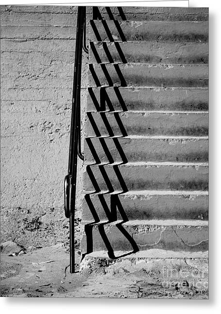Stair-rail Greeting Cards - Sea Wall Steps Greeting Card by Perry Webster
