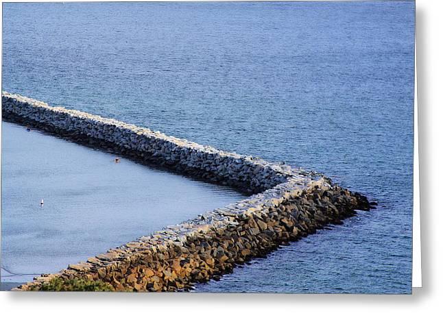 Sea Wall Greeting Card by Viktor Savchenko