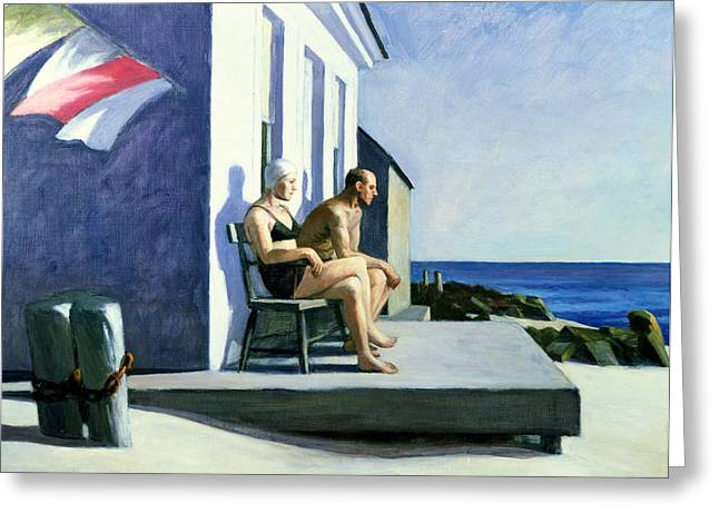 Sea Watchers Greeting Card by Edward Hopper