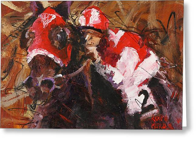 Seabiscuit Greeting Card by Ron and Metro