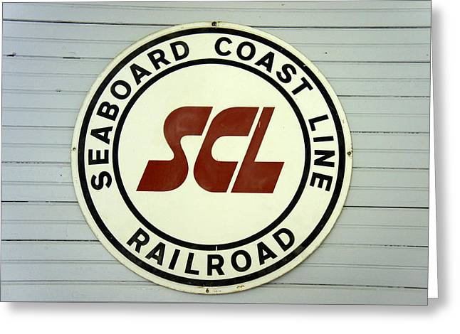 Old Roadway Greeting Cards - Seaboard Coast Line Greeting Card by Laurie Perry