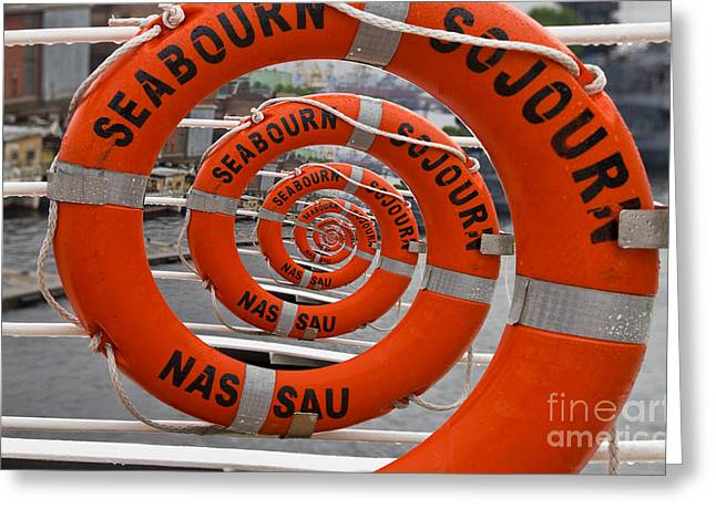 Droste Greeting Cards - Seabourn Sojourn Spiral. Greeting Card by Clare Bambers