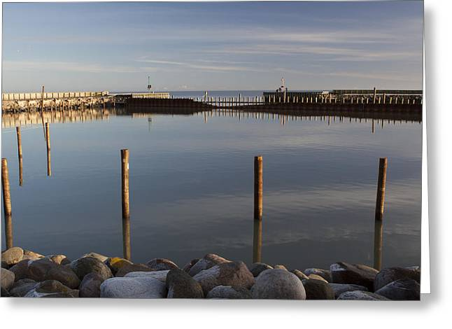 Saeby Greeting Cards - Seaby Harbor Inlet Greeting Card by Mythic Ink