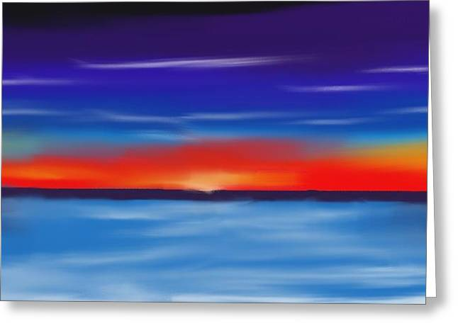 Abstract Seascape Pastels Greeting Cards - Seacape Beauty Greeting Card by Jerod Roberts