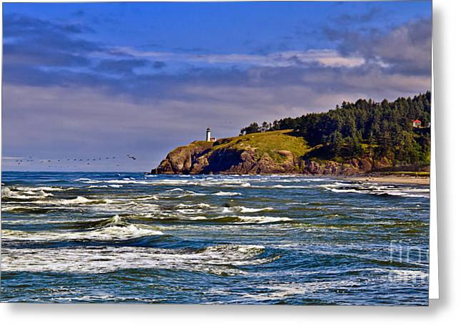 Haybale Greeting Cards - Seacape Greeting Card by Robert Bales