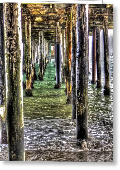 Santa Cruz Pier Greeting Cards - Seacliff Pier 3 Greeting Card by SC Heffner