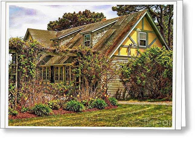 Old Maine Houses Greeting Cards - Seacoast Cottage Greeting Card by Marcia Lee Jones