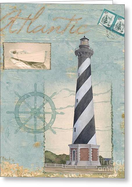 Cape Hatteras Greeting Cards - Seacoast Lighthouse I Greeting Card by Paul Brent