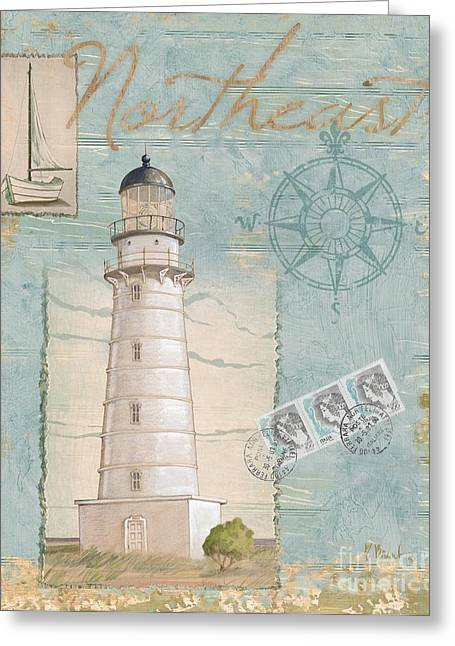 Cape Greeting Cards - Seacoast Lighthouse II Greeting Card by Paul Brent