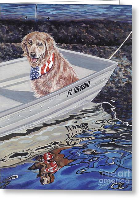 Danielle Perry Greeting Cards - SeaDog Greeting Card by Danielle  Perry