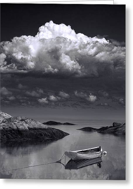 Randy Greeting Cards - Seafarers Vision in Black and White Greeting Card by Randall Nyhof