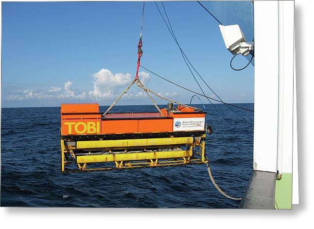 Seafloor Mapping Instrument Greeting Card by B. Murton/southampton Oceanography Centre