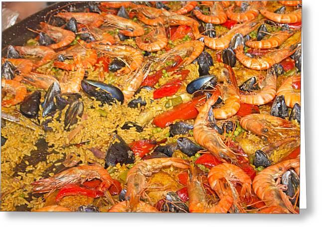 Paella Greeting Cards - Seafood Paella  Greeting Card by Jaroslav Frank