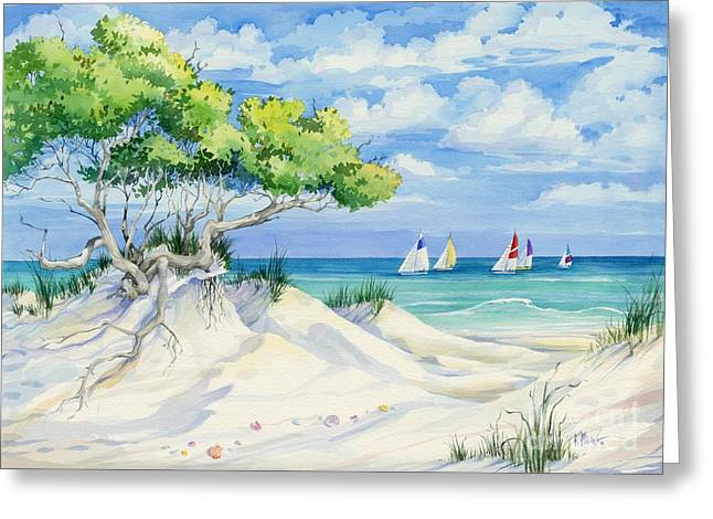 Sailboat Ocean Greeting Cards - Seagrove Beach Greeting Card by Paul Brent