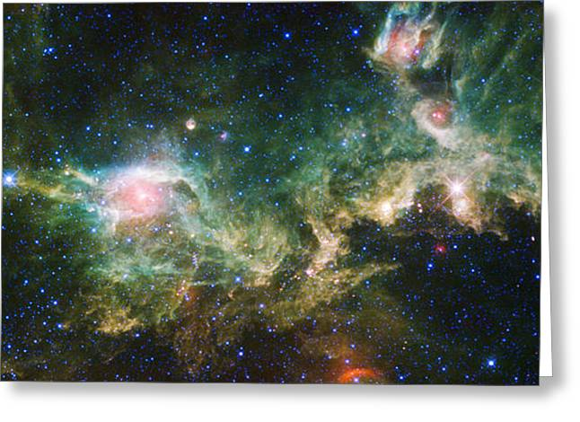 Skyscape Greeting Cards - Seagull Nebula Greeting Card by Adam Romanowicz