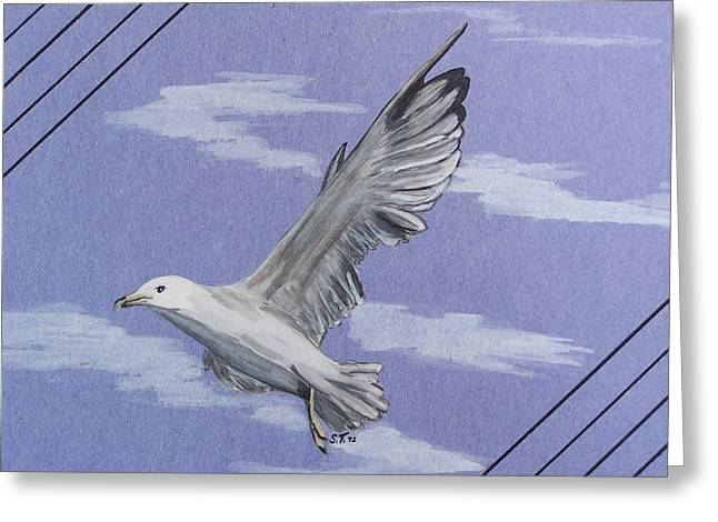 Seagull Greeting Card by Susan Turner Soulis