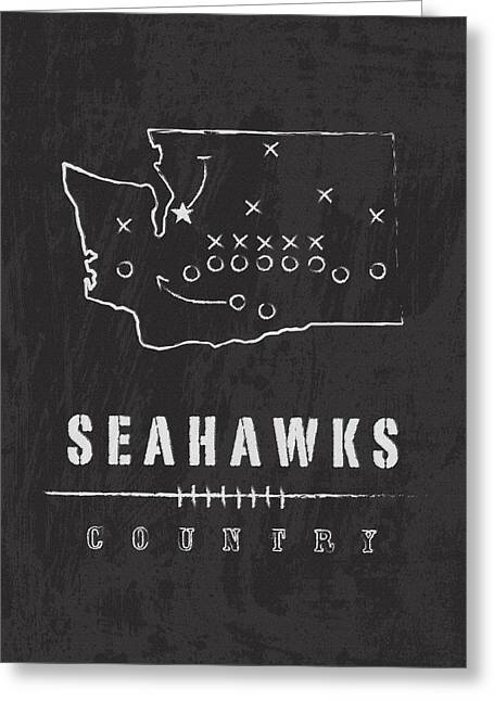 Seattle Canvas Prints Greeting Cards - Seahawks Country 2 Greeting Card by Damon Gray