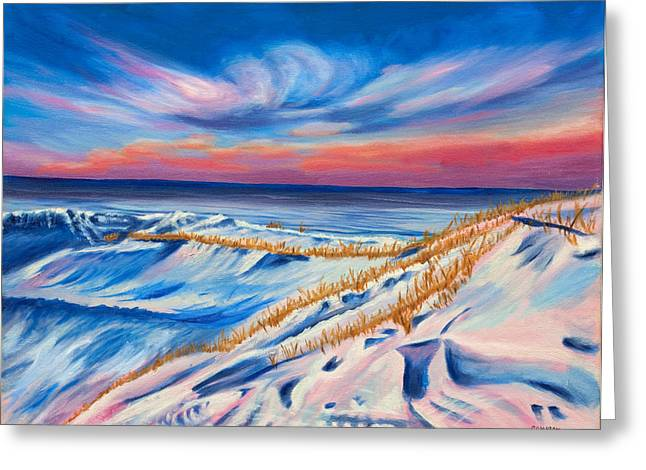 Seahore In Winter Greeting Card by Phillip Compton