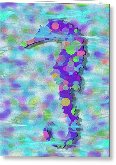 Sea Life Digital Greeting Cards - Seahorse 3 Greeting Card by Jack Zulli