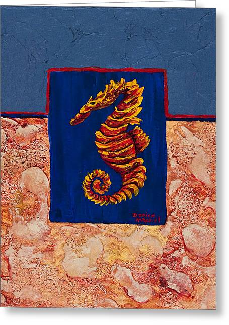 Double Image Greeting Cards - Seahorse  Greeting Card by Darice Machel McGuire