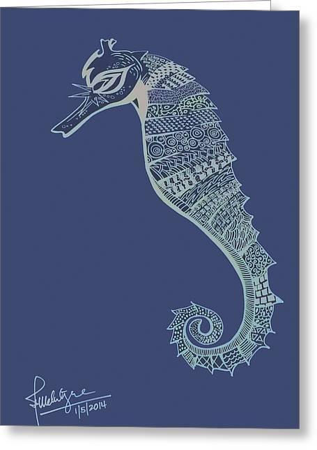 Sea Horse Greeting Cards - Seahorse Greeting Card by Debbie McIntyre