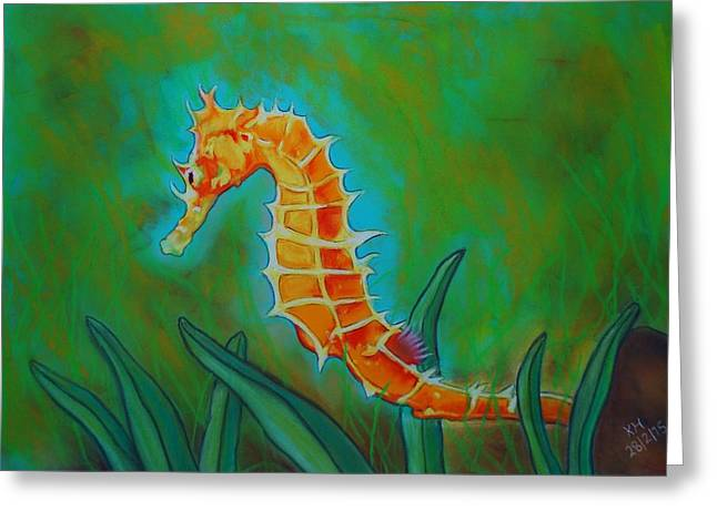 Seahorse Pastels Greeting Cards - Seahorse Greeting Card by Kevin Hubbard