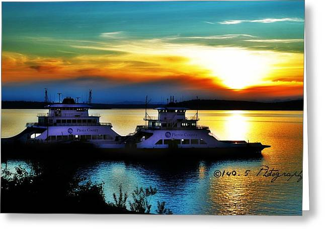 Steilacoom Greeting Cards - Seaing Doubles Greeting Card by Tammy Caruthers