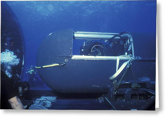 Seal Delivery Vehicle Pilot Greeting Card by Michael Wood