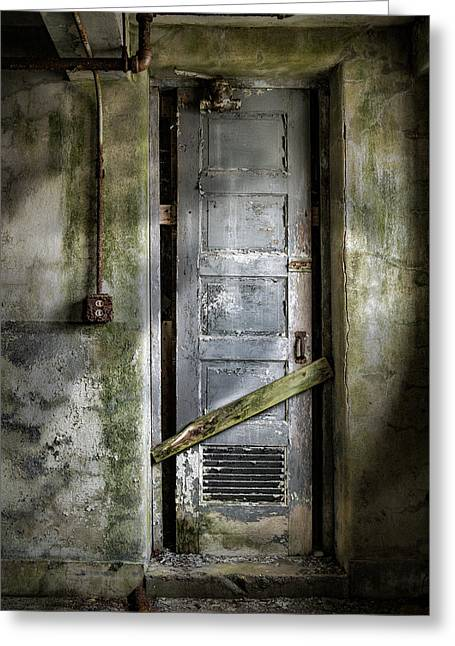 Editor Photographs Greeting Cards - Sealed door - The Old door Greeting Card by Gary Heller