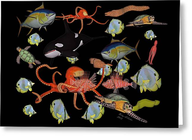 Ocean Scenes Greeting Cards - Sealife Dreamland II Greeting Card by Betsy A  Cutler