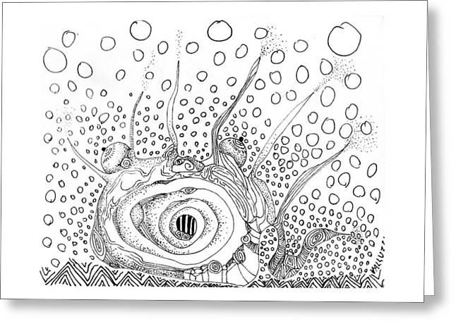 Sealife Smoooch Greeting Card by Regina Valluzzi