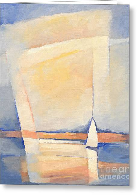 Sailboat Paintings Greeting Cards - Sealight Impression Greeting Card by Lutz Baar