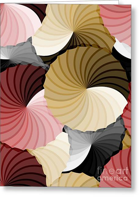 Abstract Movement Greeting Cards - Seamless abstract rosette gradient pattern Greeting Card by Sylvie Bouchard