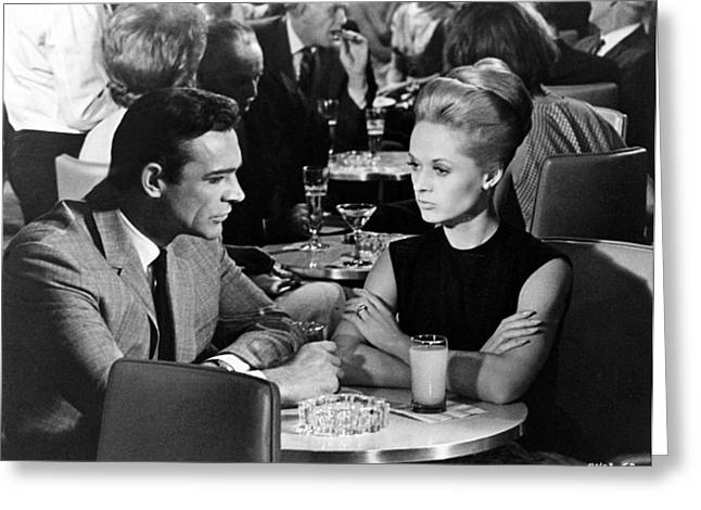 Film Still Greeting Cards - Sean Connery and Tippi Hedren Greeting Card by Nomad Art And  Design