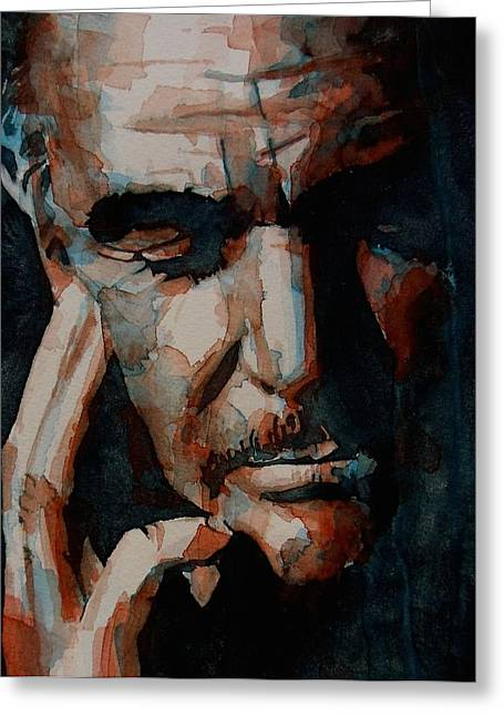Google Greeting Cards - Sean Connery  Greeting Card by Paul Lovering